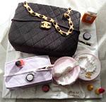 Torta chanel con borsa beauty e portagioie