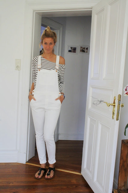 Weiße Latzhose Blogger