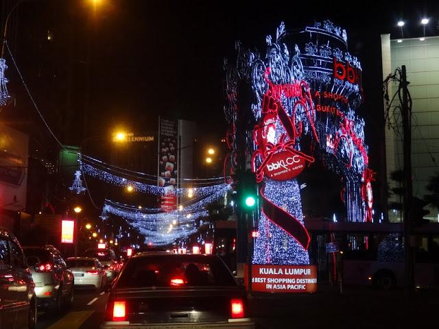 Christmas Street Lights display along Jalan Bukit Bintang in Kuala Lumpur, MALAYSIA
