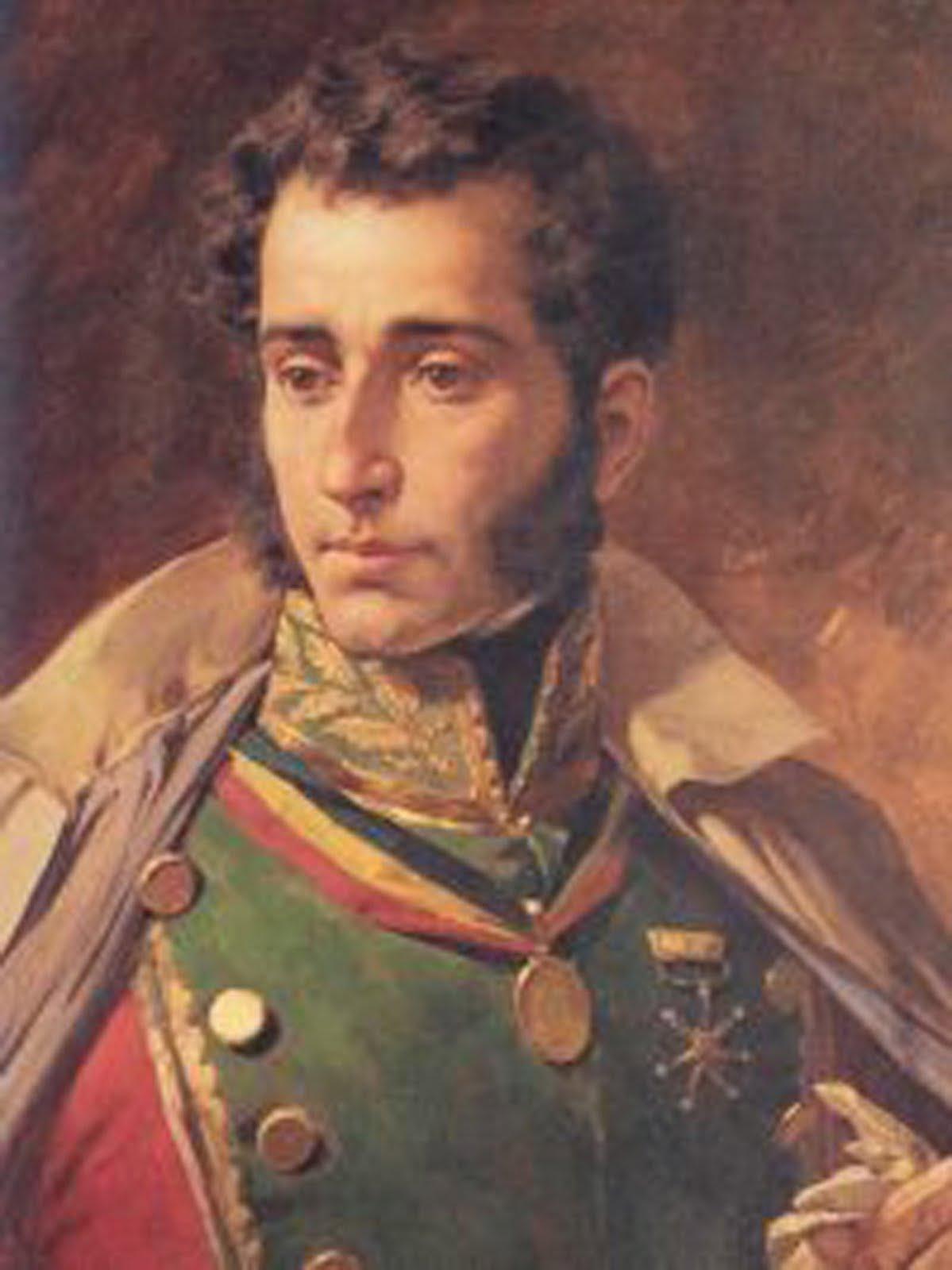 General Antonio Jose De Sucre Bolivar Con La Noticia De La Rebelion De