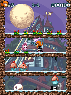 Screenshots of the Amy: Pumpkins Nightmare for java mobile, phone.