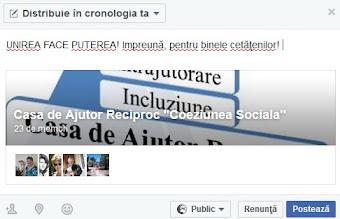 Grupul CAR Coeziunea Sociala pe Facebook: