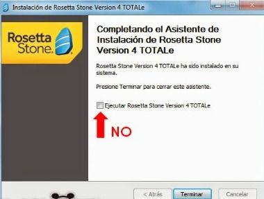 asistente instalacion roseta stone Totale versión 4.5.x