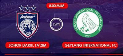 live score JDT Vs Geylang International FC 26 Januari 2016