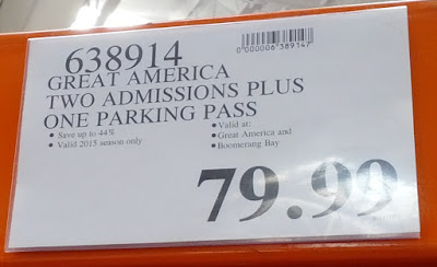Deal for 2 general admission tickets and parking to Great America at Costco