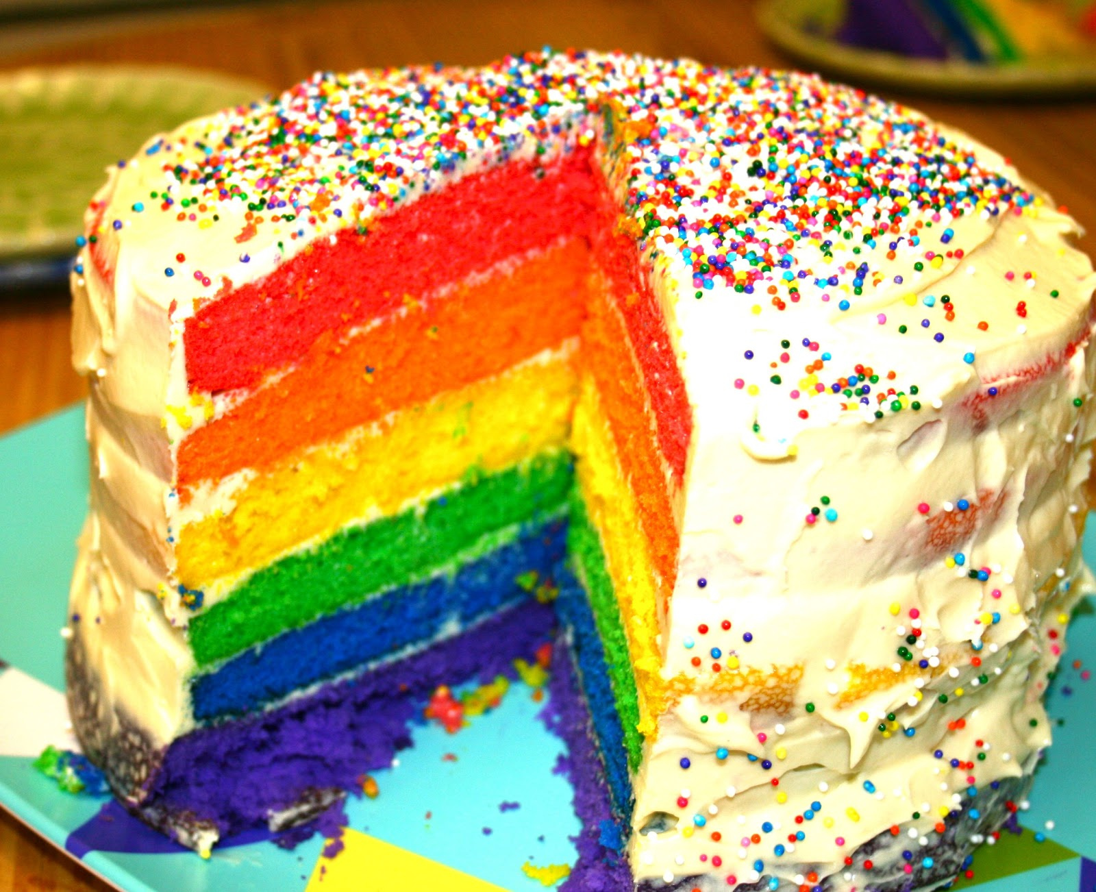 Rainbow Layer Cake Tips