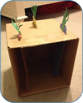 Create an indoor cardboard garden - www.lifeinrandombits.com