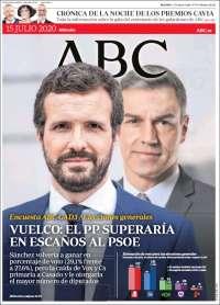 15/07/2020  ESPAÑA UNA  PRIMERA PÁGINA DE LA PRENSA