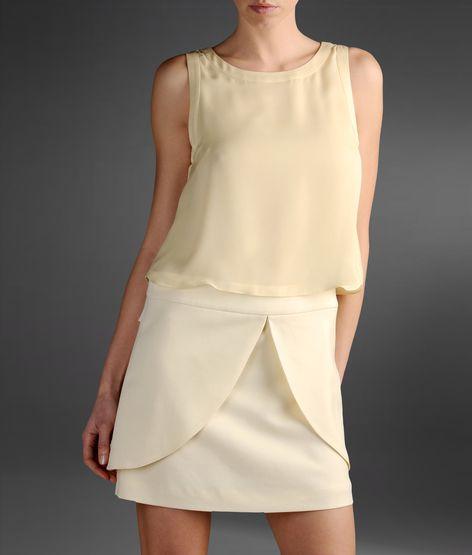 kısa beyaz elbise