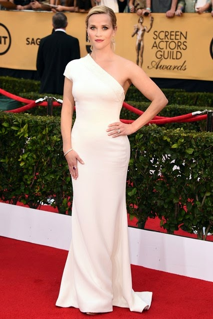 Reese Witherspoon in custom made Giorgio Armani Red Carpet 2015 SAG