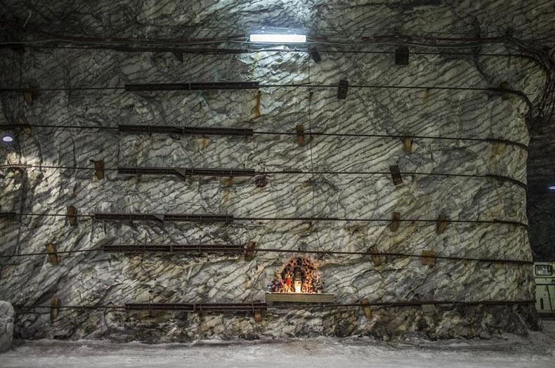 La mina del sal de Realmonte en Italia