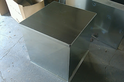 how to make a sheet metal transition for a furnace