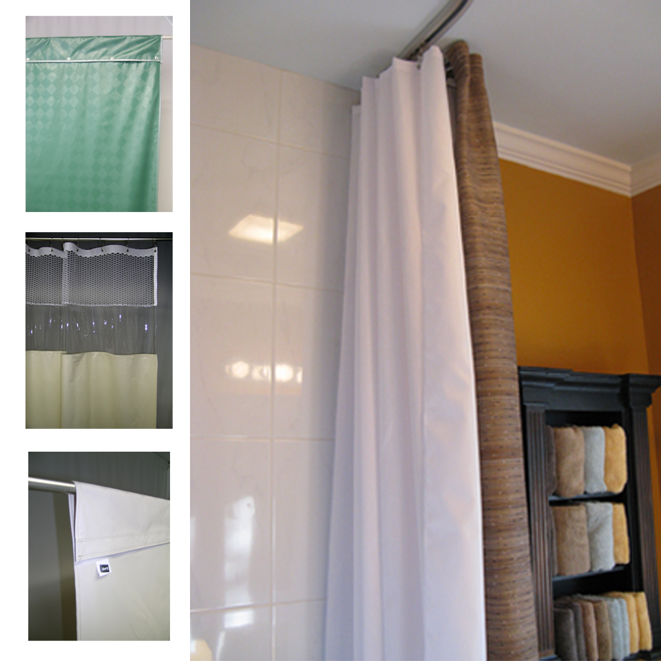 Gary Manufacturing Inc See Through Top Panel Shower Curtains