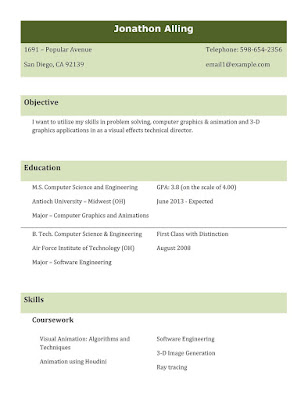 Freshers Resume Format   Best Professional Resume Templates