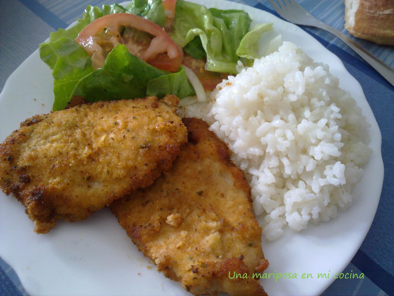 Una mariposa en mi cocina filetes de pechuga de pollo - Comidas con arroz blanco ...