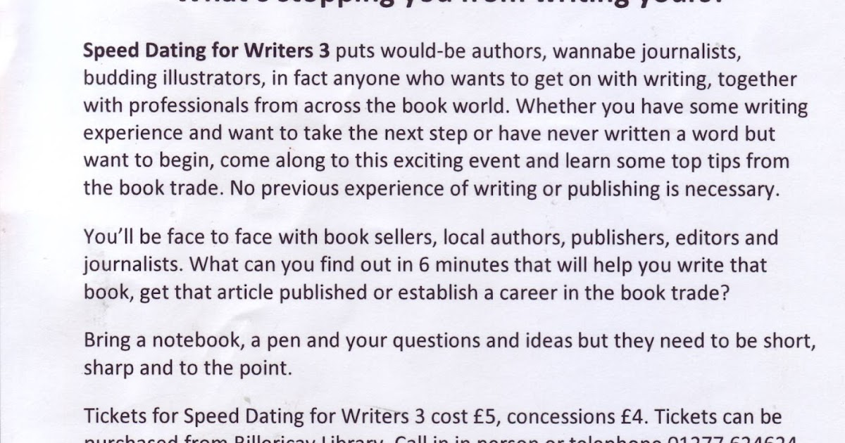 dating for writers