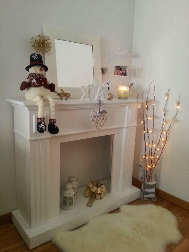 Mi chimenea por navidad s l o a n e s t r e e t - Como hacer chimeneas decorativas ...