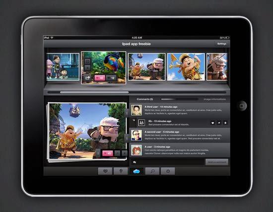 iPad Application Mockup (PSD)