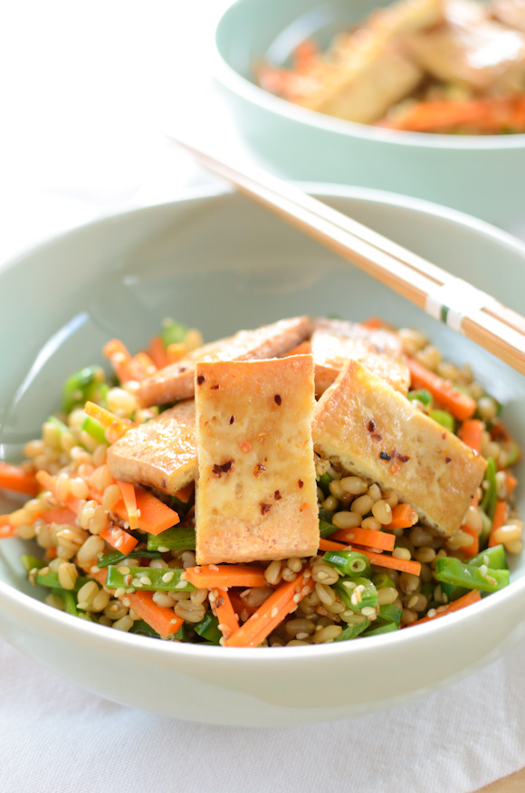 Wheat-Berry Salad With Grilled Tofu Recipes — Dishmaps