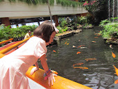 Looking at fish at the White Swan