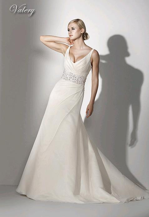 Suknia ślubna ivory z muślinu