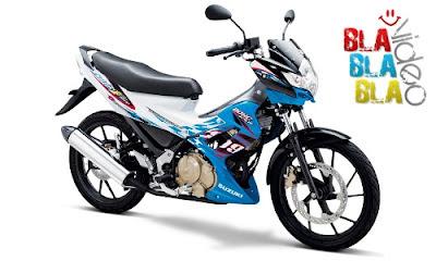 Gambar Satria FU 150 cc Biru Putih