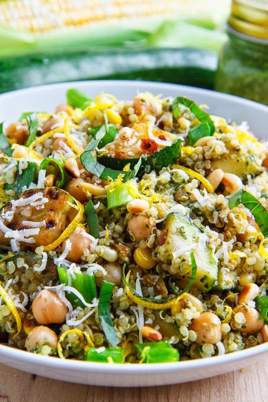 quinoa veggie pesto