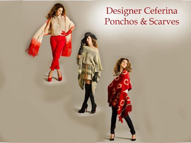 Fashion designer Ceferina - Poncho & Scarf collage
