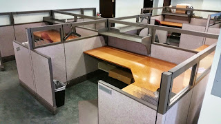 Modular office, Herman Miller AO3 office cubicles with glass