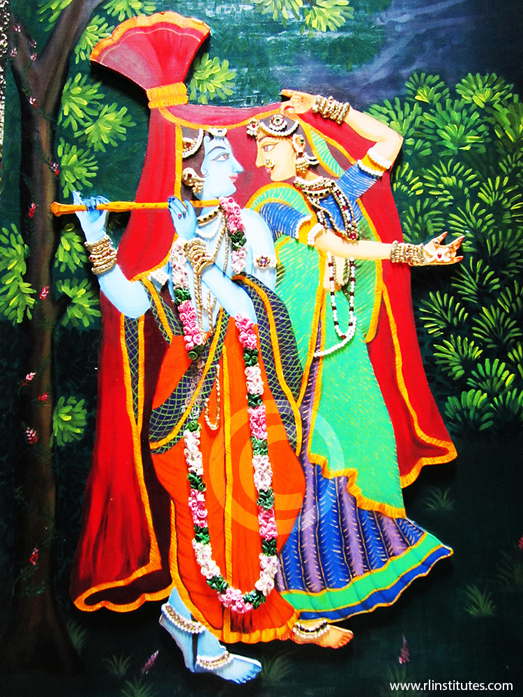 Krishna and radha animation auto design tech for Define mural painting