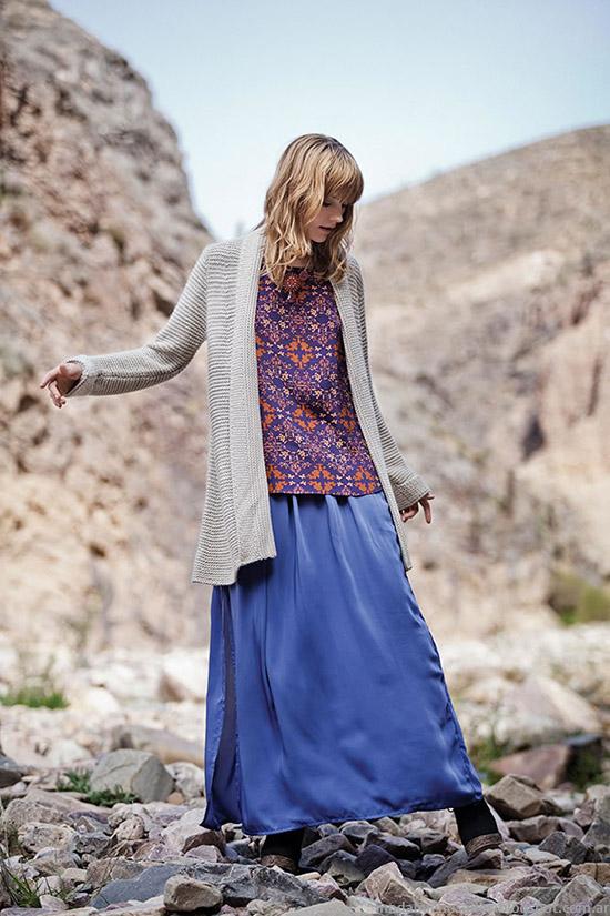 Sacos tejidos invierno 2015 Moda India Style.