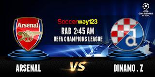 Prediksi Arsenal vs Dinamo Zagreb 25 November – Liga Champions