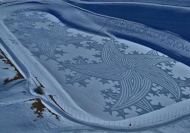 Stunning Snow Patterns by Simon Beck (Snow Art) 4