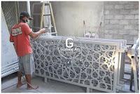 produksi ornamen pagar masjid cor logam aluminium