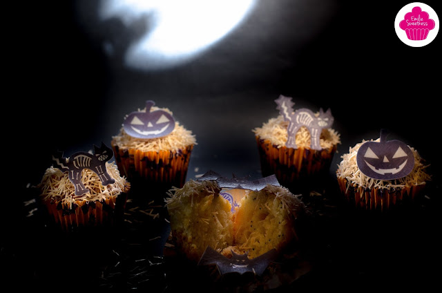 Muffins à l'orange - muffins d'Halloween - Bataille Food #28