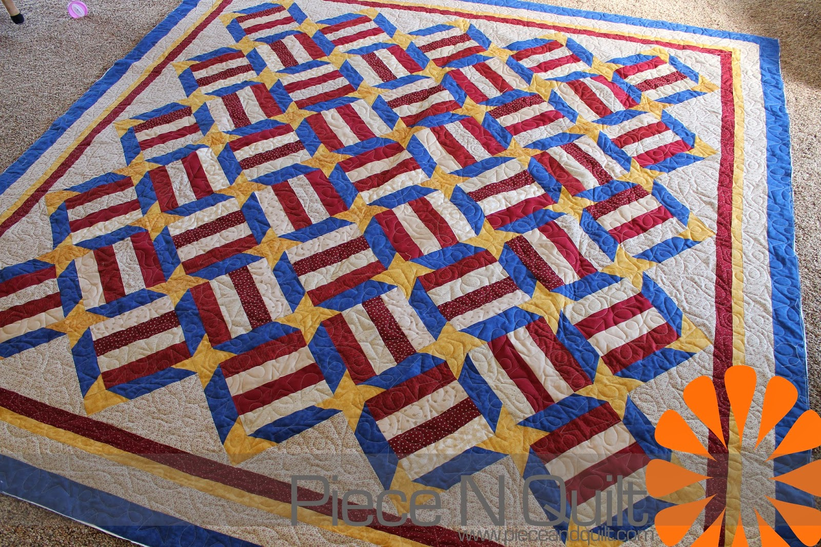 Quilt Patterns For College Students : Piece N Quilt: Patriotic Quilt
