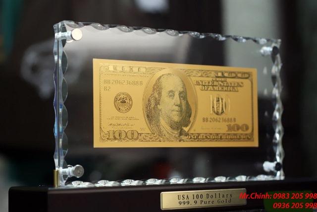 tờ 100 usd bằng vàng
