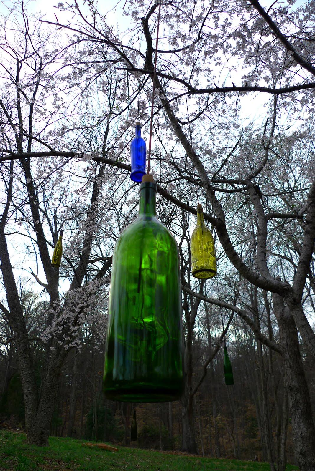 Robert Oren Eades Outsider Art: Hanging Bottles