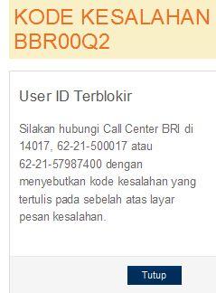 cara buka user id terblokir internet banking bri