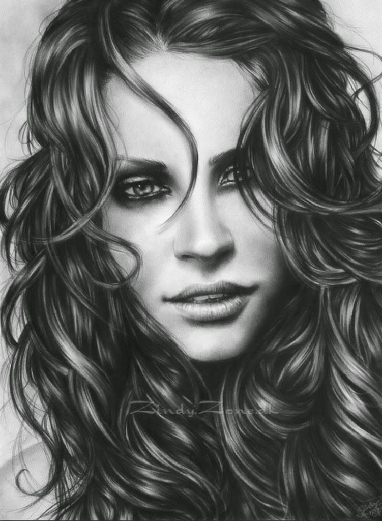 retratos-de-mujeres-bellas-hechos-a-lapiz