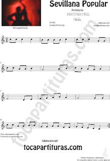 Sevillana Popular Partitura de Violín Sheet Music for Violin Music Scores Music Scores