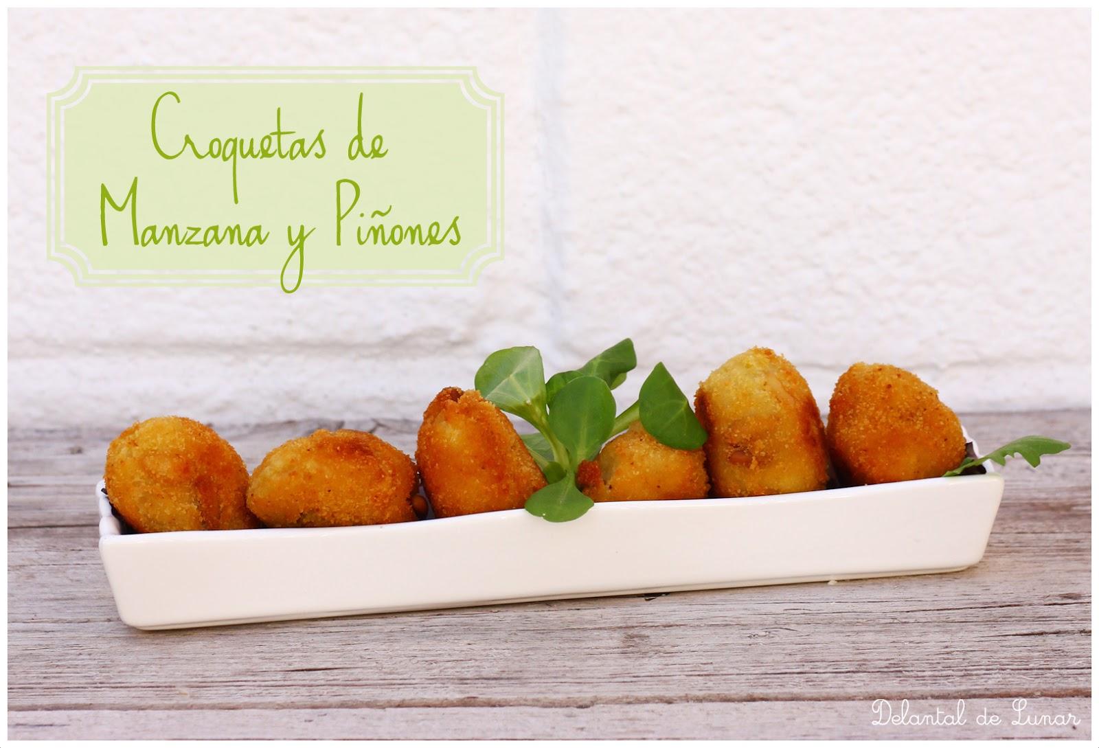 Foto: Croquetas de manzana y piñones