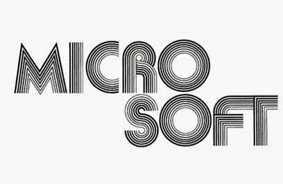 Microsoft logo in 90's