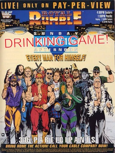 Royal Rumble Drinking Game