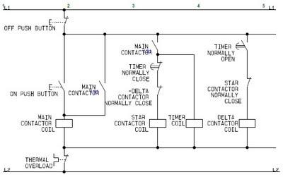 Star Delta Control Circuit Wiring Diagram
