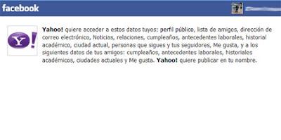 facebook iniciar sesion yahoo