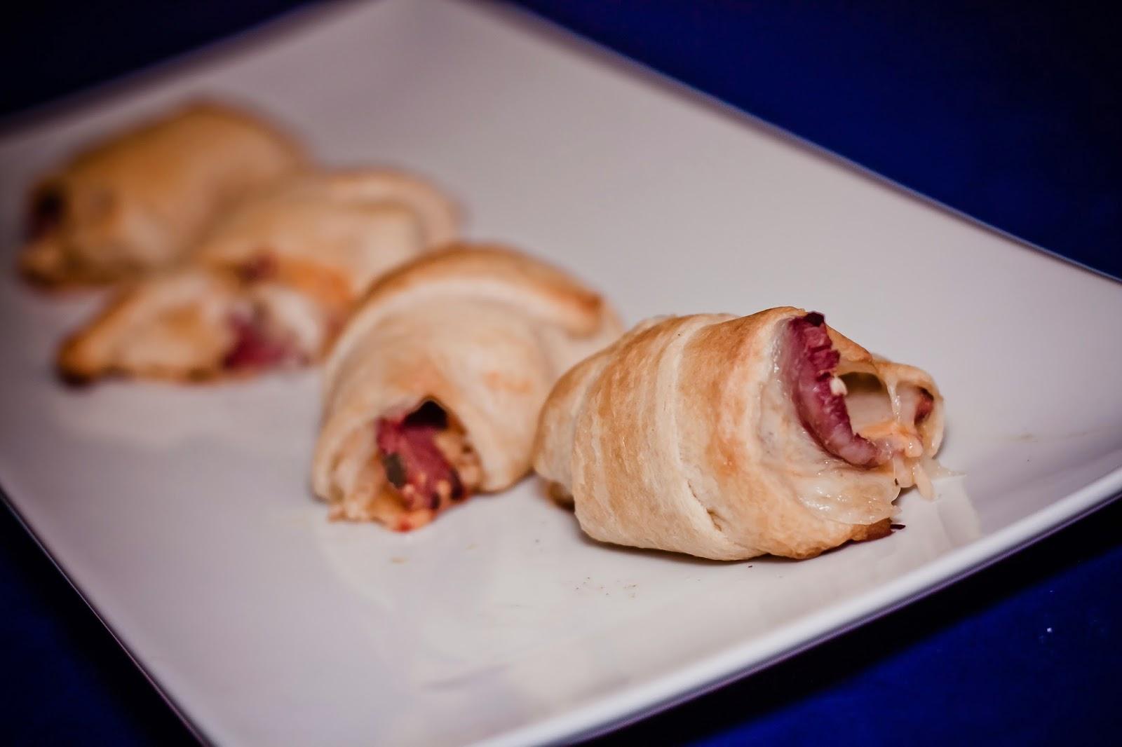 Reuben Crescent Roll Appetizers