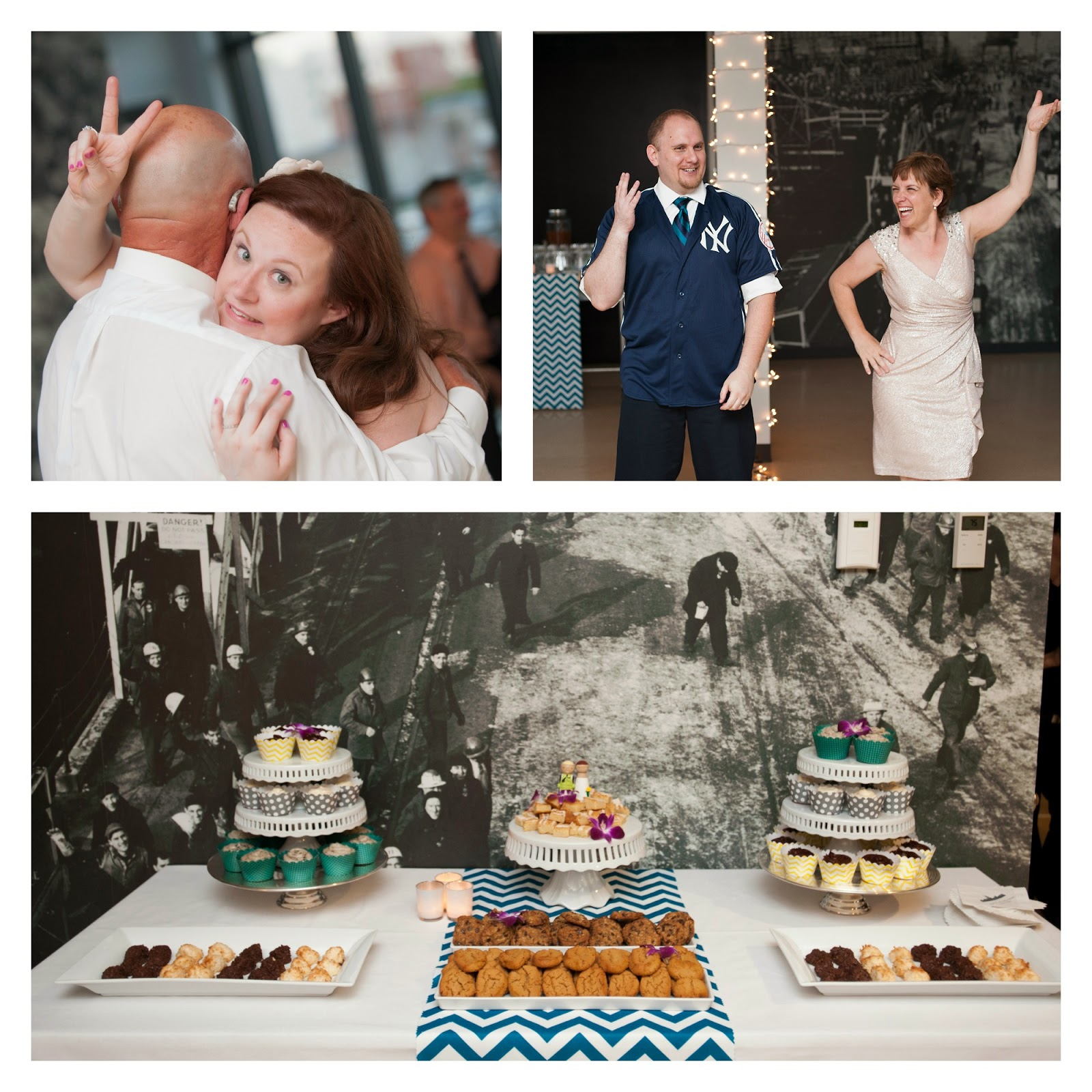 teal & yellow wedding, brooklyn wedding, ny wedding, ny wedding planner, echo-friendly wedding, building 92, brooklyn navy yard