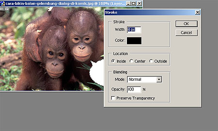 Cara Membuat Balon Gelembung dan tulisan Dialog di Photoshop