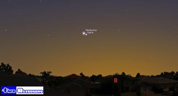 Senja Ini, Planet Merkurius dan Bintang Spica Siap Berkencan